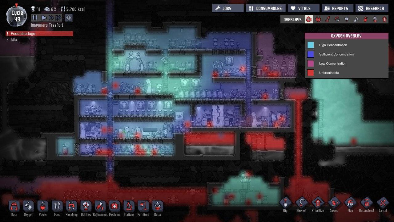 Скриншот игры Oxygen Not Included