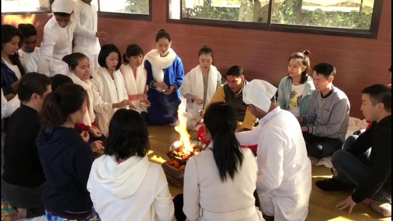 What is Welcome Fire Ceremony - Yoga Teacher Training in India