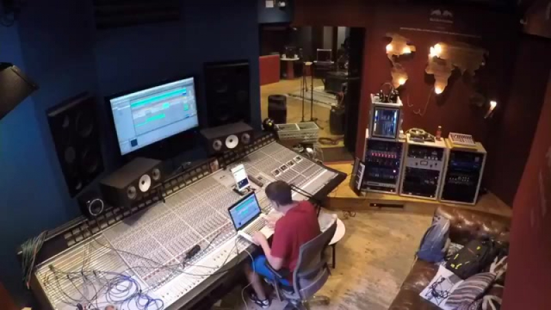 TODDLA T remix his track 'Beast' along with Stylo G live in the studio.