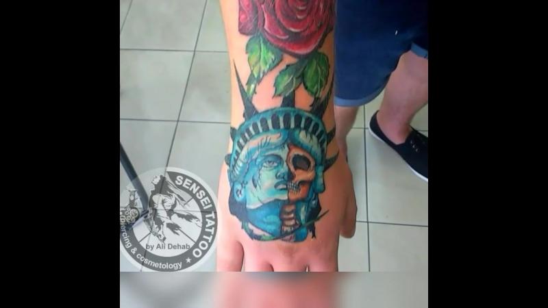 тату на руке, цветные татуировки в Днепре, тату салон SenseiTattoo