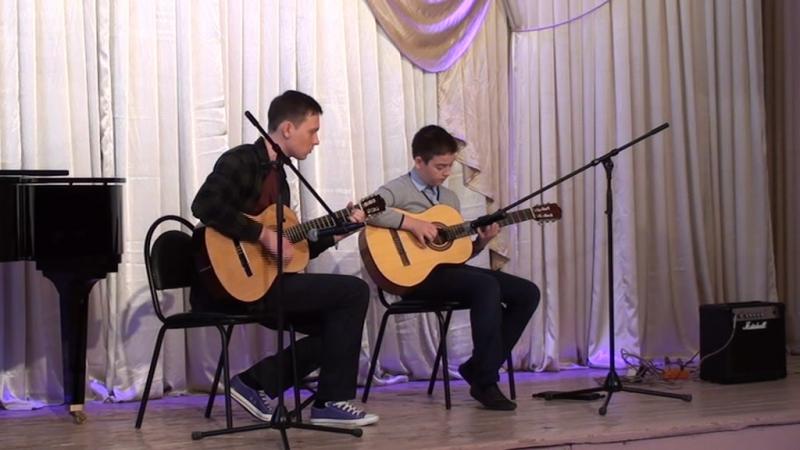 2 место Инструментальное исполнительство, Тогузаев Кирилл, дуэт с преподавателем