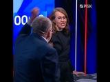 Жириновский нецензурно оскорбил Собчак на дебатах у Соловьева
