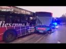 Am Busbahnhof in Hamburg Harburg krachen vier Busse ineinander 14 Verletzte