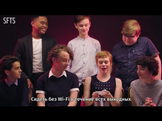 "[RUS SUB] The Cast of ""It"" Rates Everyday Scary Things ¦ Teen Vogue"
