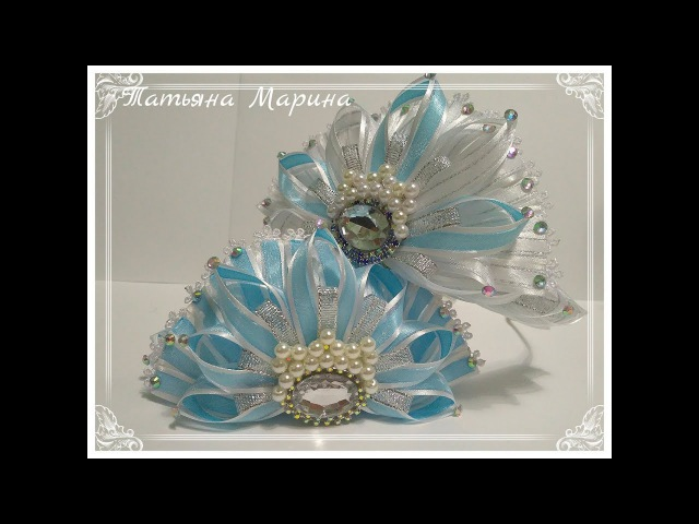 МК Новогодние короны из узкой ленты New Year Crowns Coroas de Ano Novo