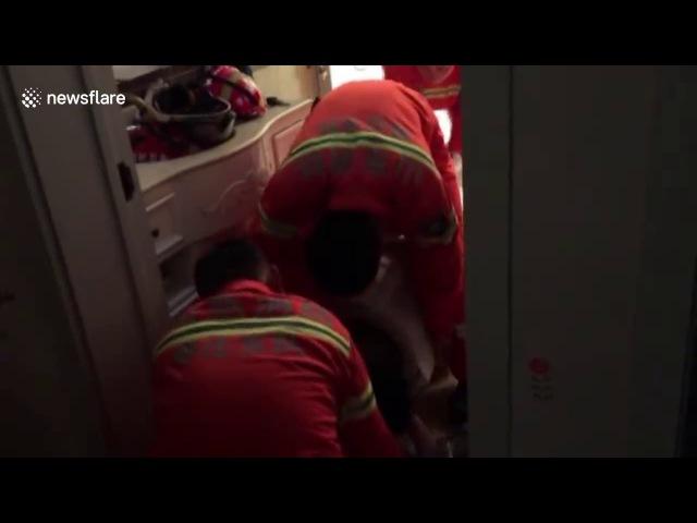 Boy 10 rescued from washing machine