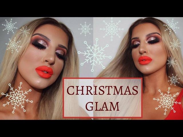 CHRISTMAS GLAM | GLITTERY HALF CUT CREASE | Using Inglot Italian Kiss Collection