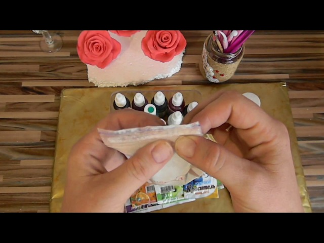 Как окрасить Мастику и Крем/ Какие есть красители/ Как пользоваться кандурином/ ...