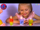 Кукла Беби Борн и Ярослава делают разноцветные Гелевые Свечи Видео для детей B...