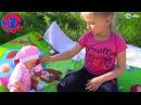 How the Baby Born Dolls in nature walk Куклы Беби Бон и маленькие девочки Арина и Ярослава