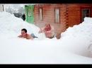 Пойдем в баню: Купаемся в снегу-А ВАМ СЛАБО
