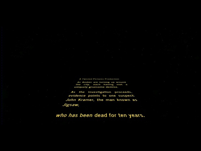 Jigsaw Intro But With The Star Wars Theme Crawl