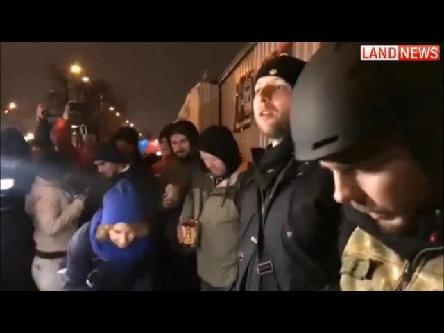 Парасюк и Автомайдан пикетировали базу Беркута в Киеве 06.03.2018