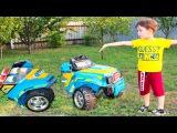 BAD BABY Accident Paw Patrol crush Power wheel car Щенячий патруль Плохой Гонщик Распилил машину