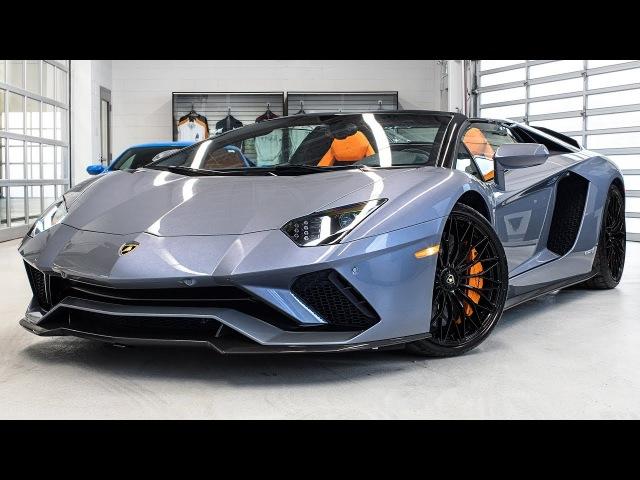 Delivery of a 2018 Lamborghini Aventador S LP740-4 Roadster in Grigio Oneirus 4K