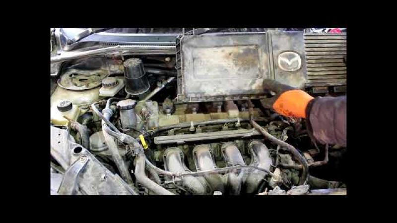 Замена коробки передач, автомата АКПП 1часть Mazda Demio 1,3 2004 Мазда Демио