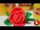 💐Как сделать цветы/розу из пластилина Плей До Play Doh / How to make flowers rose