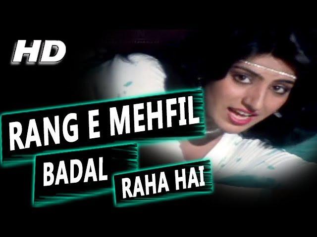Rang E Mehfil Badal Raha Hai Asha Bhosle Samundar 1986 Songs Sunny Deol