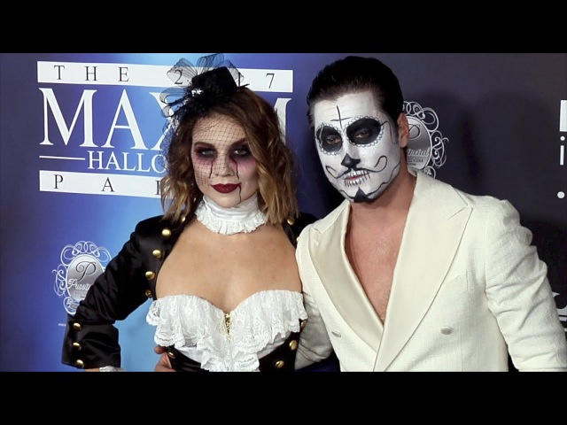Val Chmerkovskiy and Jenna Johnson 2017 Maxim Halloween Party