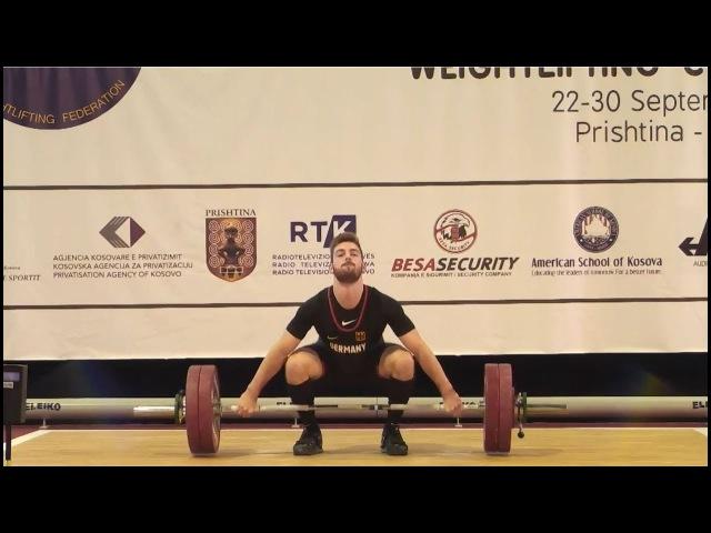 Men U17 85kg 2017 EUROPEAN WEIGHTLIFTING CHAMPIONSHIPS U15 U17