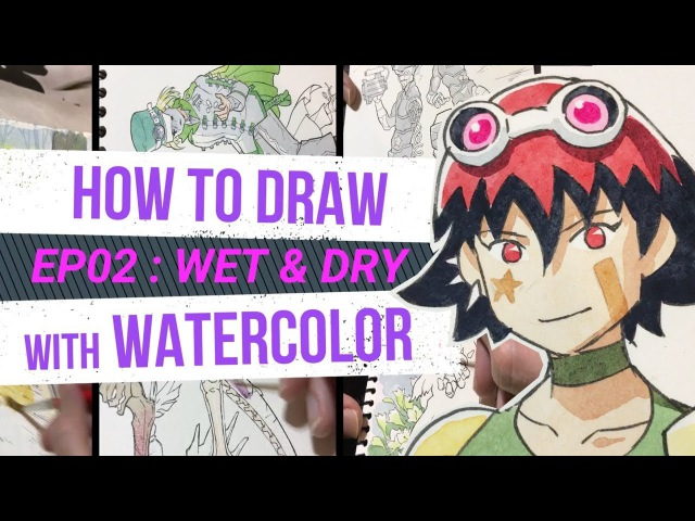 HOW TO DRAW with WATERCOLOR - for beginners - WET DRY