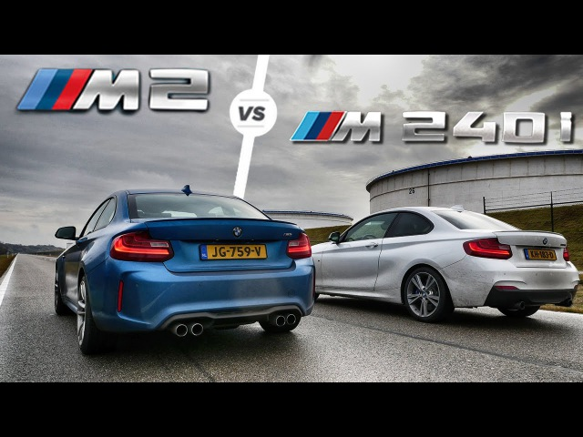 BMW M2 vs M240i ACCELERATION Sound DRAG RACE by AutoTopNL