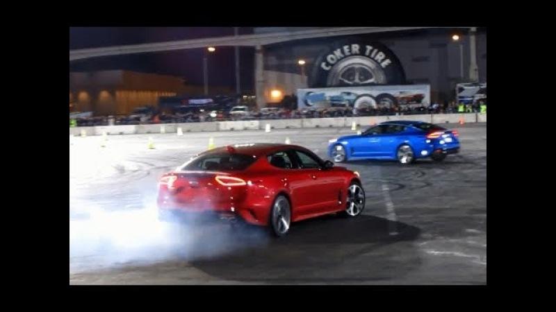 KIA Stinger GT Drift Demo at SEMA Ignited (part 1)