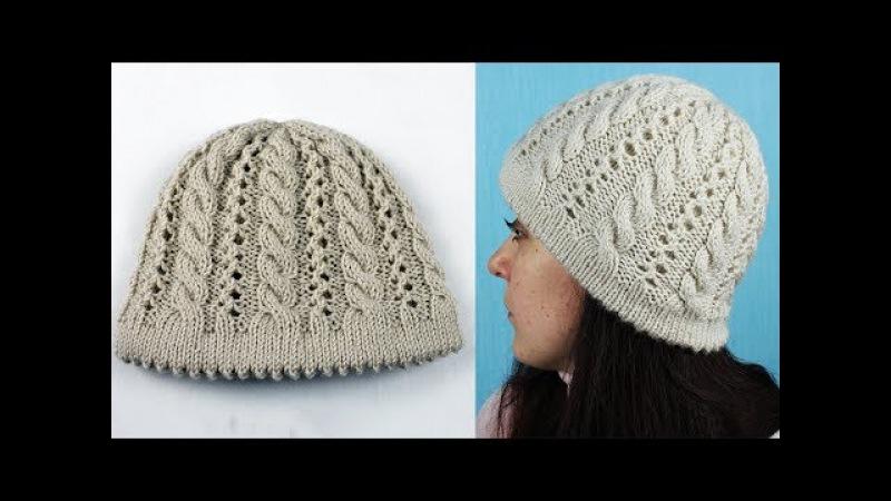 Шапка от ободка Вязание шапки с косами