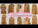 10 SEMIRECOGIDOS Peinados Faciles y Rapidos con Trenzas para toda ocasion