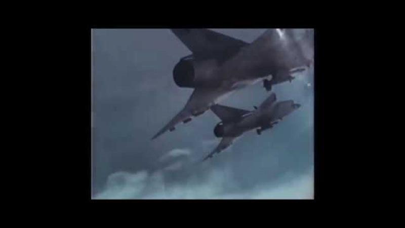 Swedish Saab J 35 Draken interception training
