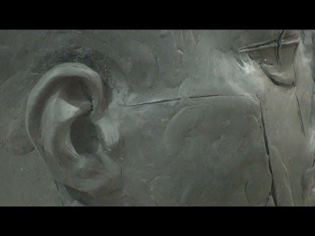Уроки скульптуры и рисунка лепка головы часть 6 детализация ухо