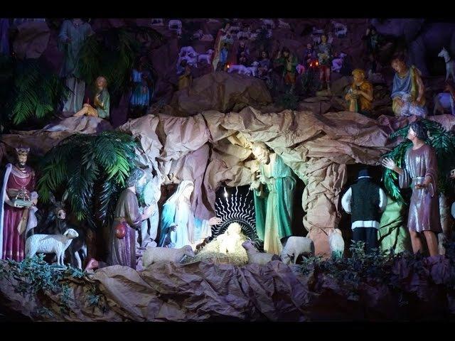 Najwieksza ruchoma szopka u Franciszkanów z Poznania Boże Narodzenie 2014