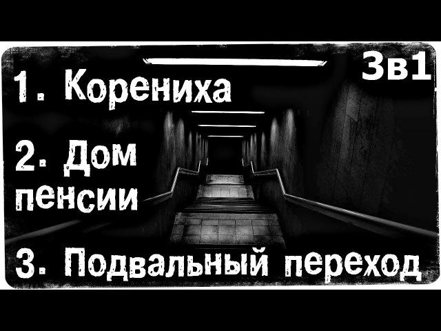 Истории на ночь (3в1) 1.Корениха, 2.Дом пенсии, 3.Подвальный переход