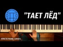 ГРИБЫ ТАЕТ ЛЁД ● на пианино Piano Cover ● ᴴᴰ НОТЫ MIDI
