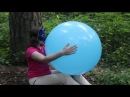 "Blowing blue 24"" balloon from Party City (no pop) 500 subs special :)"