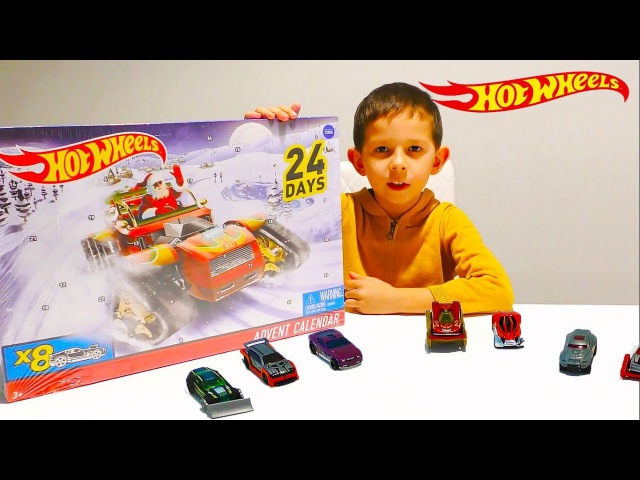 Адвент календарь Хотвилс. 24 сюрприза Хотвилс/Advent calendar Hot Wheels