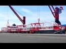 Hanseatic Break Bulk_Loading of disassembled Megamax Post-Panmax STS Container gantry crane