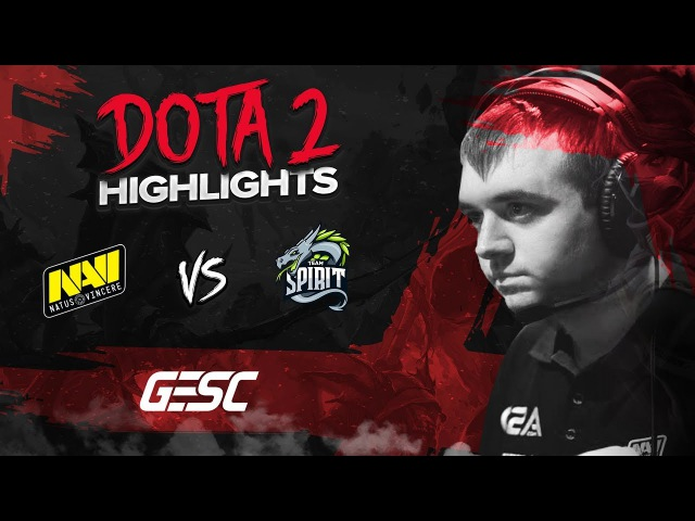 NAVI Dota2 Highlights vs Team Spirit @ GESC E-Series: Jakarta CIS Quals