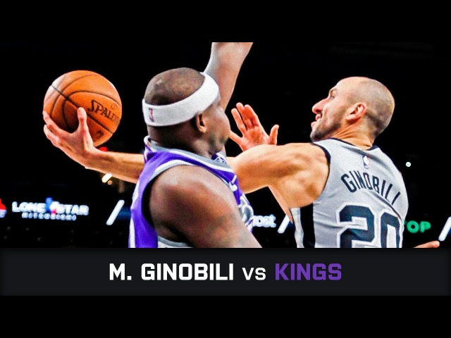 Manu Ginobili's Highlights 15 PTS 3 AST 1 STL vs Kings 28 01 2018