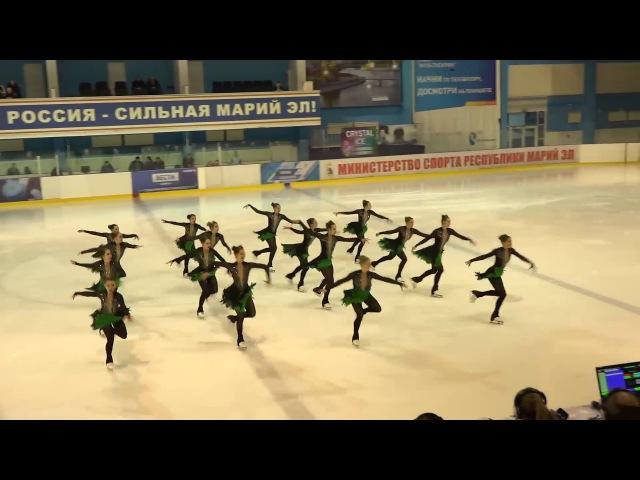 Санрайз 1 СПБ Чемпионат России по синхронному катанию 2018 KMC ПП 9