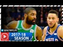 Kyrie Irving vs Ben Simmons LONDON Duel Highlights (2018.01.11) Celtics vs Sixers - ONE on ONE!
