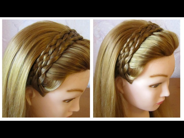 Tuto coiffure simple et rapide 🌸 Tresse serre-tête cheveux long/mi long 🌸 facile à faire