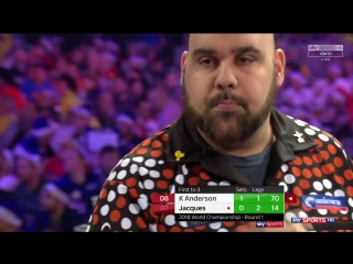 Kyle Anderson vs Peter Jacques (PDC World Darts Championship 2018 / Round 1)