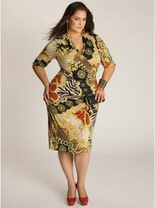 Платье-футляр для пышных форм!