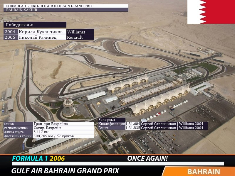 Гонки.МЕ — Ф1 2006 Бахрейн Ф1 2006