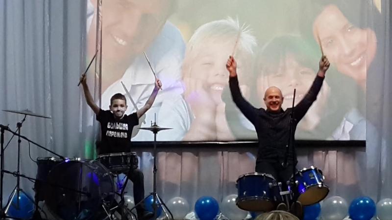 Номер с барабанами, Дейнеко Павел. 14.02.2018