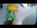 МК--кукла метла Метелкина в (чулочной) технике
