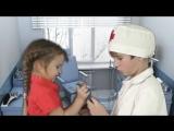 Дети играют в доктора - приём у окулиста, как подобрать очки