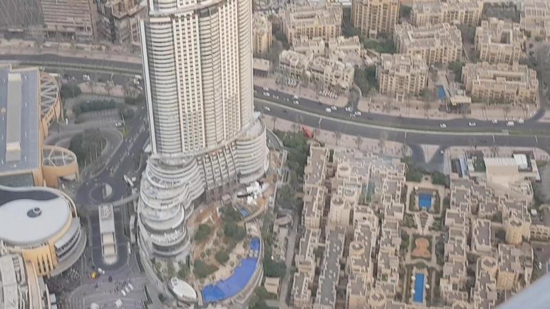 Дубай с высоты башни Бурж Халиф