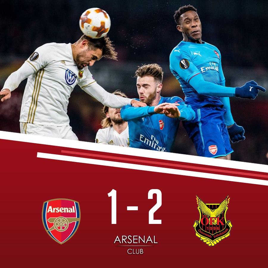 445. Arsenal FC (ENG) - Östersunds FK (SWE) 1:2